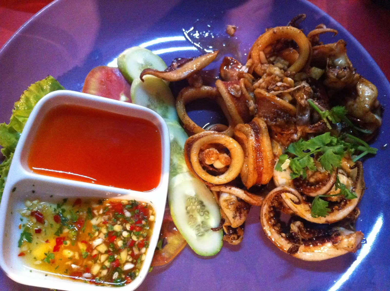 Fried squid, Chinatown, Bangkok, Thailand