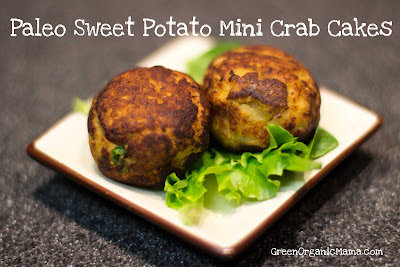 Paleo Sweet Potato Mini Crab Cakes
