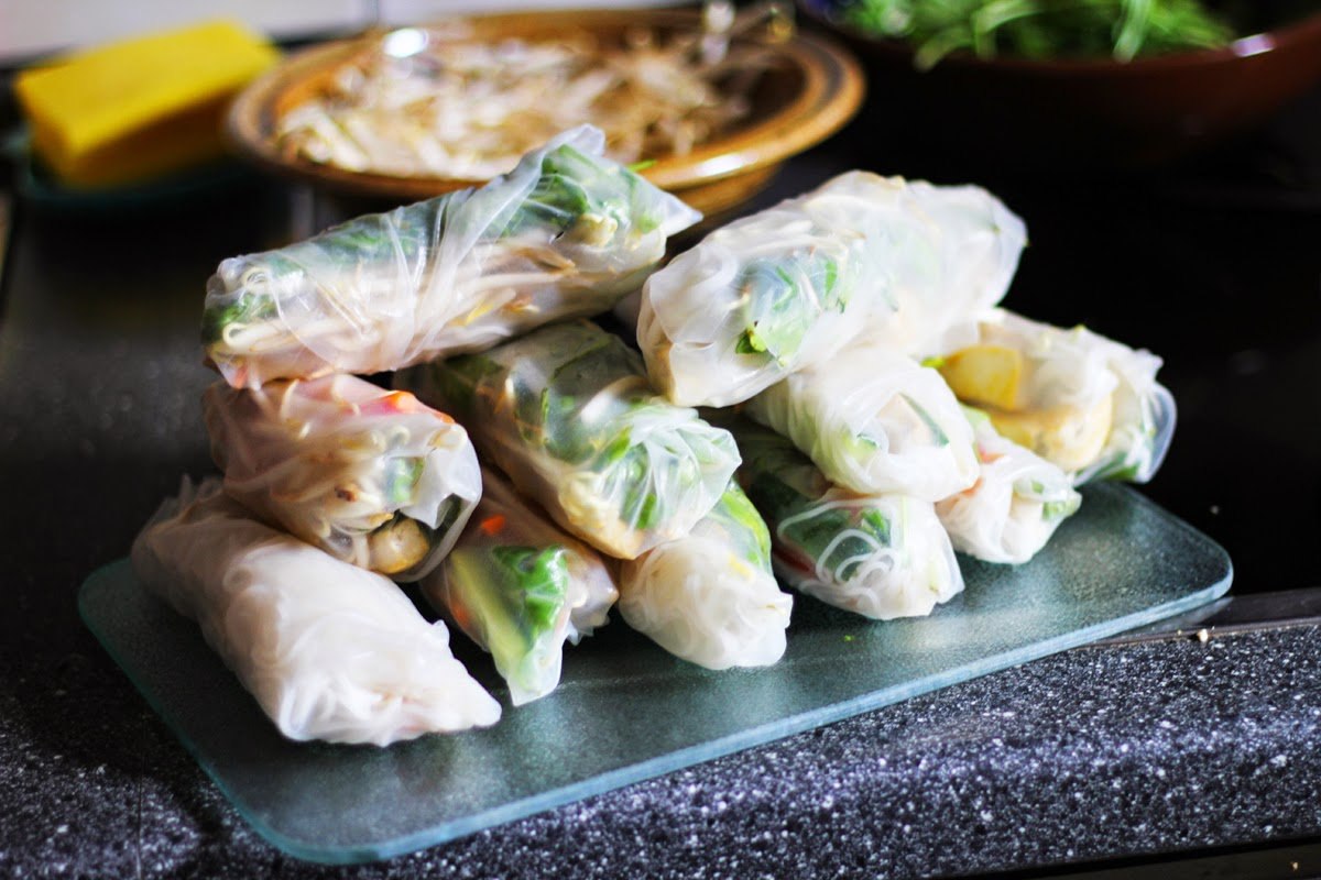 vegan summer rolls myberlinfashion cook with me monday