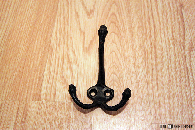How to build a Simple Shelf- Octopus Coat Hanger | www.blackandwhiteobsession.com