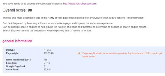 Page Weight Teknik SEO Asas