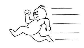 obrazek rysunkowy-biegacz