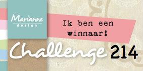 1e Prijs bij het Marianne Design Challenge Blog!