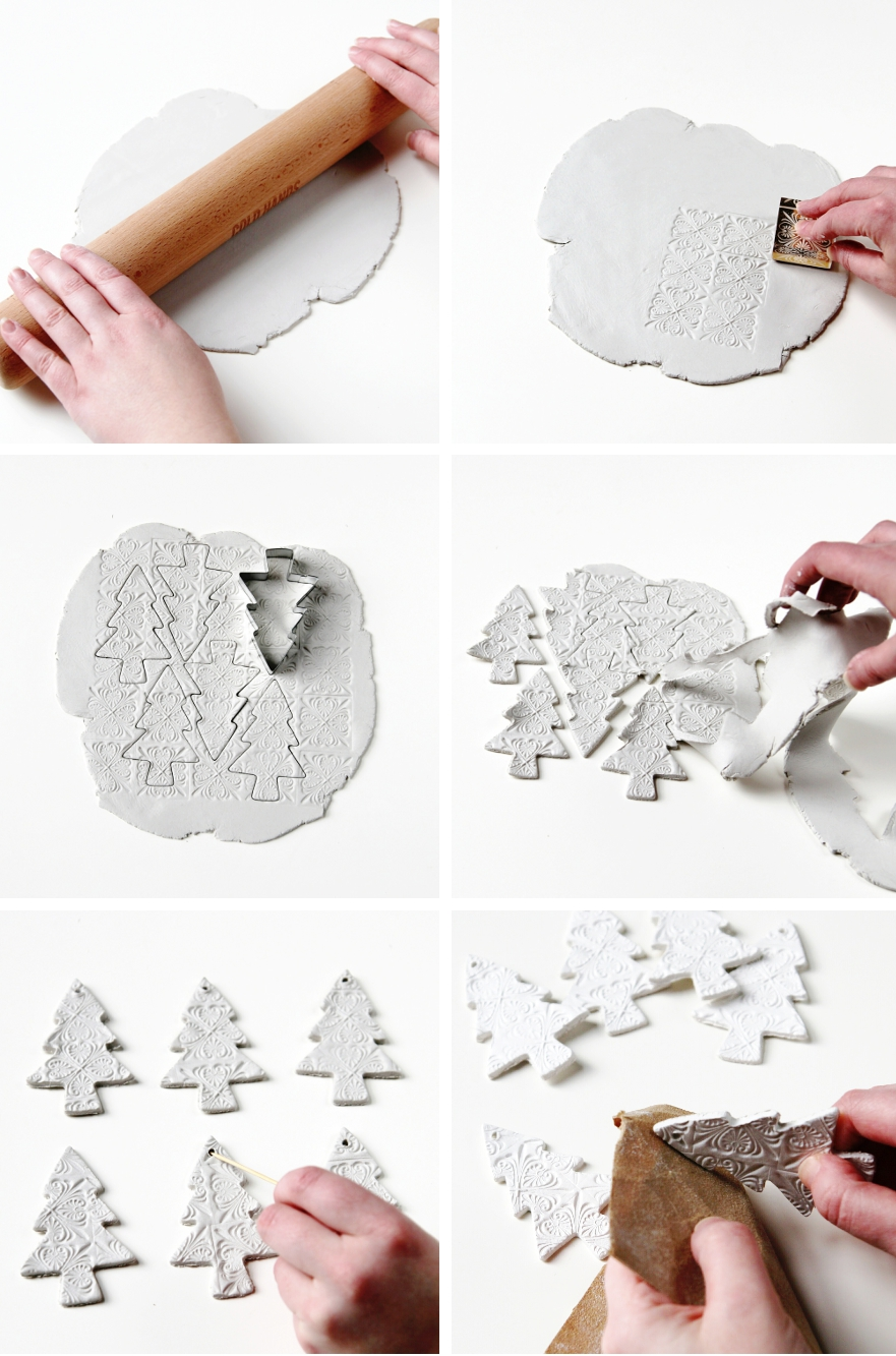 DIY WATERCOLOUR CLAY CHRISTMAS DECORATIONS Gathering Beauty - 9 diy white clay christmas ornaments to try