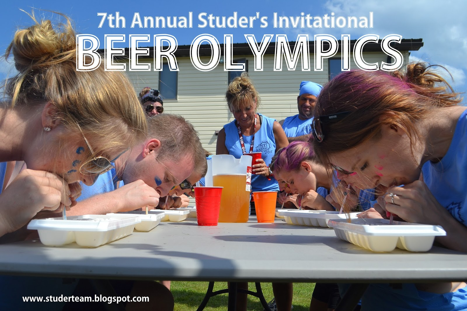 how to play beer olympics