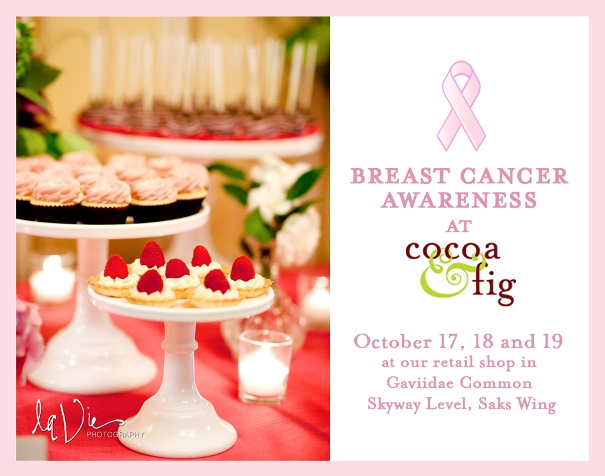 Cocoa & Fig Turning Pink for Breast Cancer Awareness Month