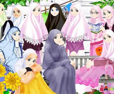 sAriE_sUkkie: Foto Animasi Muslimah