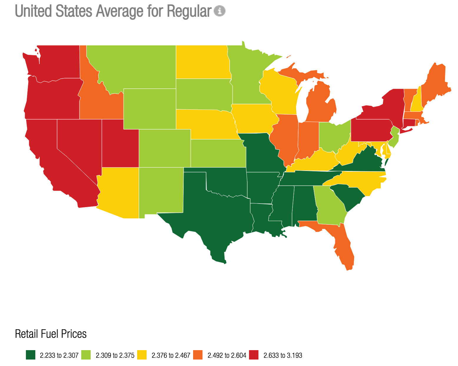 Quick And Easy To See Where The Least Expensive Gas Is