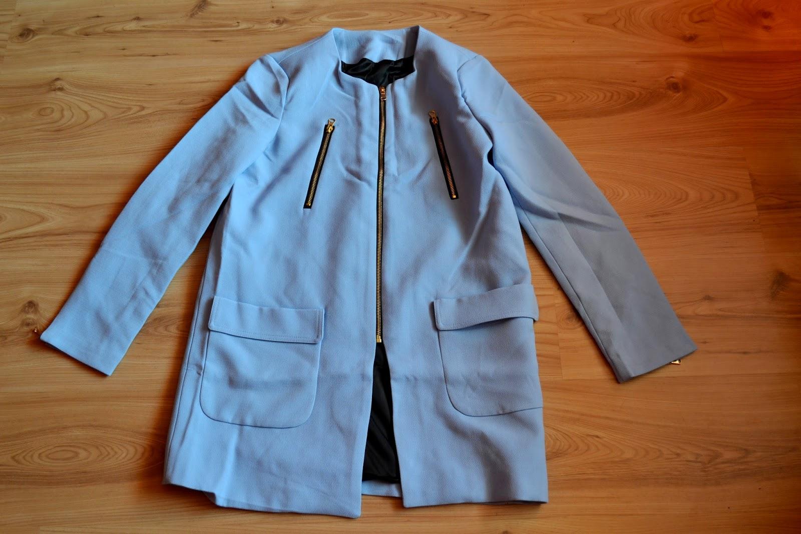 płaszcz na jesień, moda jesień 2014, płaszcz baby blue