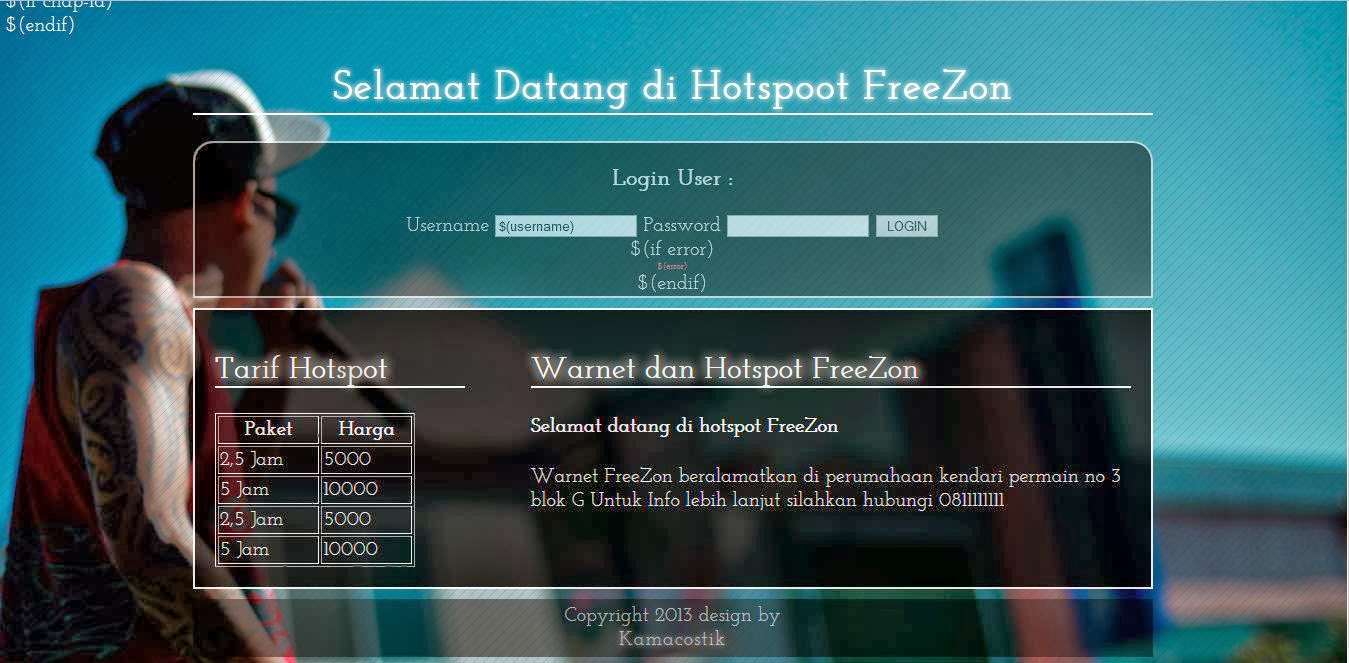 dowload template simple login hotspot mikrotik, Powerpoint templates