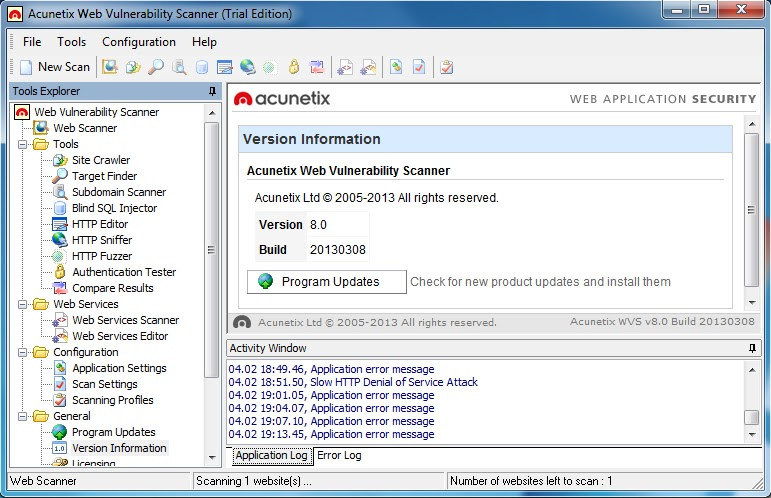 Acunetix Web Vulnerability Scanner (WVS) is an automated web application se