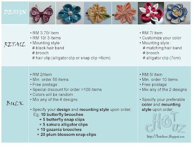 handmade, kanzashi, hair accessories, retail, bulk, income, tudung, bisnes, peluang