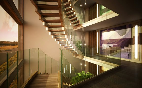 15 modern stairs design ideas for luxury large homes for Luxury staircase design