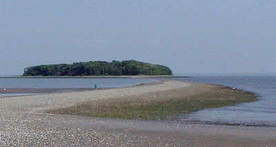 Charles Island near the Silver Sands State Park in Connecticut has a unique feature than other islands. At low tide, you can walk to it.  It has been known to trap many visitors who have to spend the night on the haunted and cursed island.