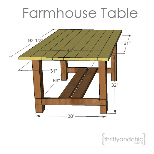 Backyard Table Plans : Thrifty and Chic  DIY Projects and Home Decor