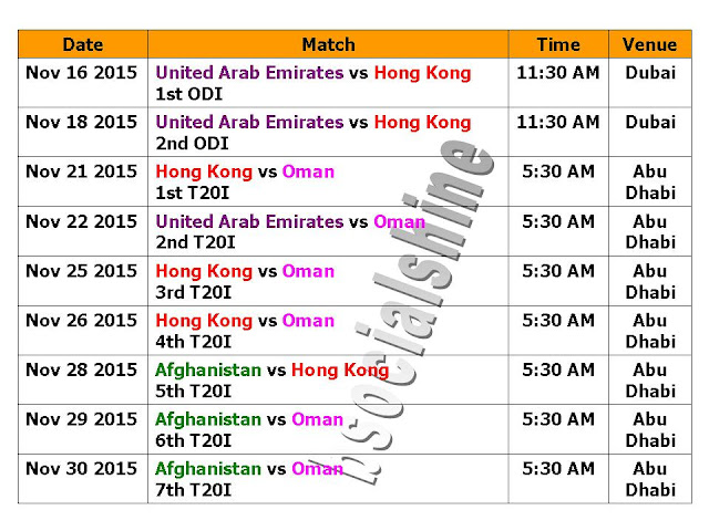 Asia Cup 2016 Schedule Qualify Matches (Nov 2015),Asia Cup 2016 Schedule,Qualify Matches for Asia Cup 2016,november matches,asia cup 2016 qualify teams,squad,asia cup 2016 teams,qulifying match,time table,schedule,asia cup 2016 schedule,fixture,United Arab Emirates,Hong Kong,Oman,Afghanistan,2016 Asia Cup,Matches,Qualify matches,Qualify teams,Asia Cup 2016 Schedule,India,pakistan,Bangladesh,sri lanka,all matches,UAE,venue,time,t20