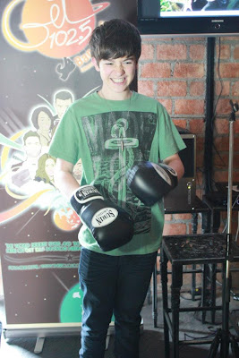 Greyson ready to Box at Meet and Greet Bangkok Thailand 2012