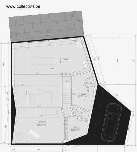 Plano arquitectónico de la planta a nivel del suelo