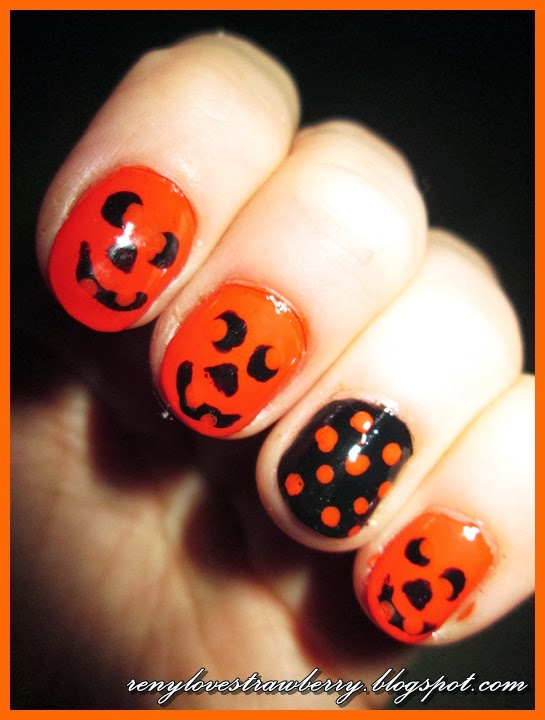 Strawberry Love By Reny Pumpkin Nails Design