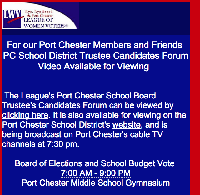 PORT CHESTER SCHOOL VIDEO