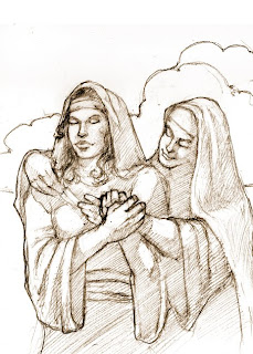 Naomi and Ruth, image courtesy of Stephen Bautista Art Ministry, stephenbautista.com