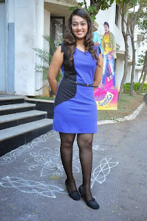 Ester Noronha Pictures in Short Dress at Bhimavaram Bullodu Movie Press Meet