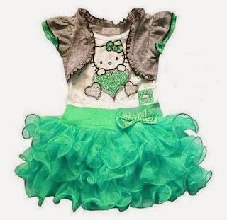 Tutu dress skritd untuk anak cewek warna hijau tosca