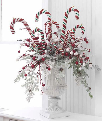 Home christmas decoration christmas decoration candy White christmas centerpieces
