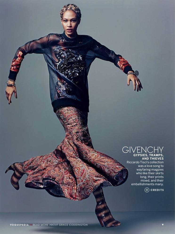 Joan Smalls + Givenchy by Riccardo Tisci, Vogue US July 2013, grace coddington, craig mcdean, fall 2013