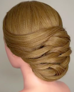 This is just an amazing looking Weaving Bridal Up Do Hairstyle Tutorial!