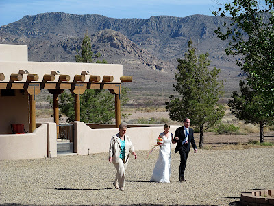bride at outdoor wedding