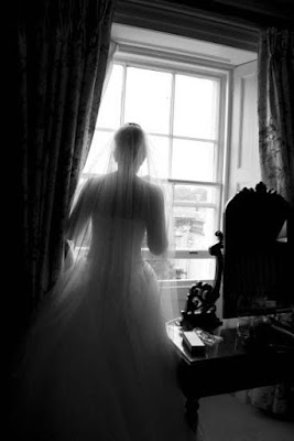Bridal silhouette at Wynyard Hall