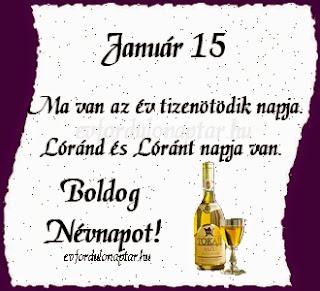 Január 15, Lóránd, Lóránt névnap