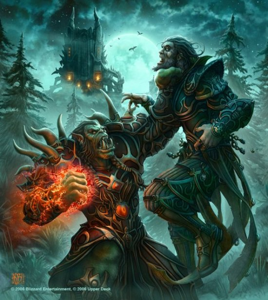 Kerem Beyit deviantart ilustrações fantasia card games blizzard world of warcraft