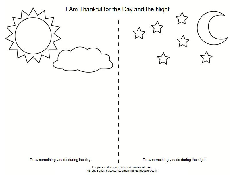 night and day coloring pages - photo#1