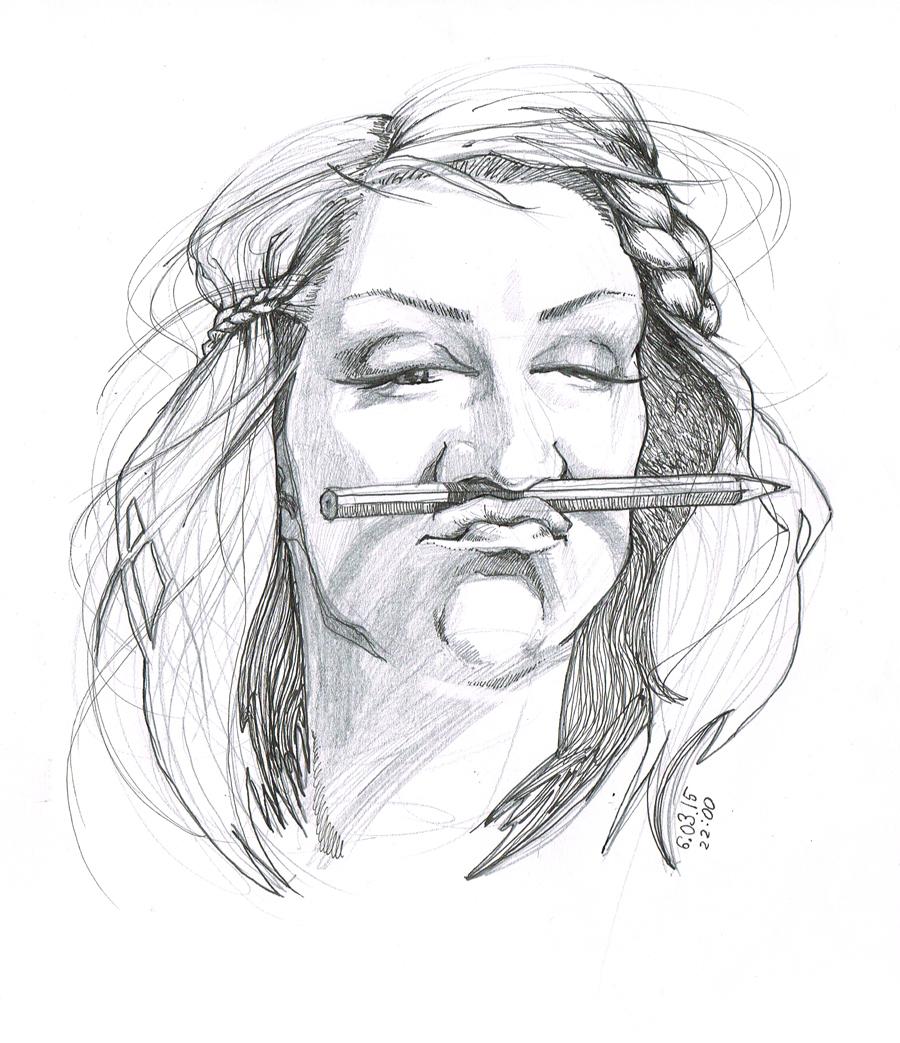 urbaiak quick draw sketch szkic portret