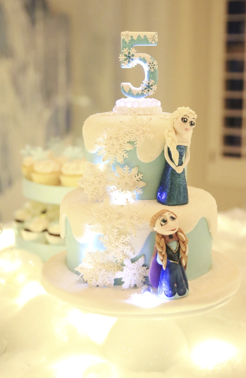 Frozen Inspired Birthday Party cake