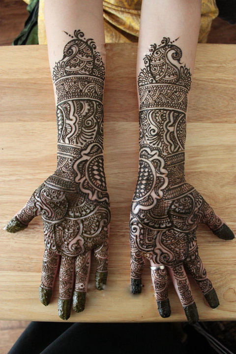 Mehndi Bridal Photos : Mehndi design bridal full hand henna
