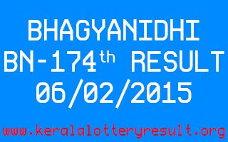 BHAGYANIDHI Lottery BN-174 Result 06-02-2015