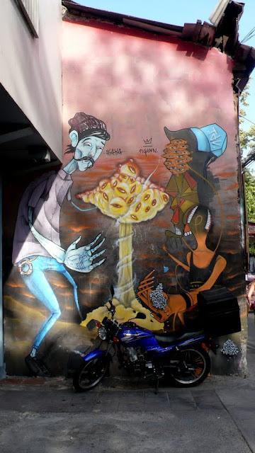 street art by faya and piguan in santiago de chile barrio bellavista arte callejero