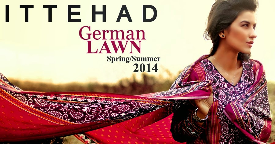 Ittehad German Lawn Collection 2014