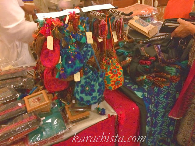 Ethnic purses at the Crafter's Expo Karachi