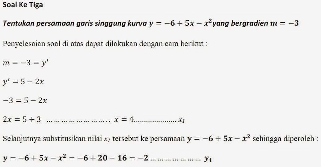 Syazali Group Soal Matematika Edisi 1 Fungsi Turunan Dan Persamaan Garis Singgung