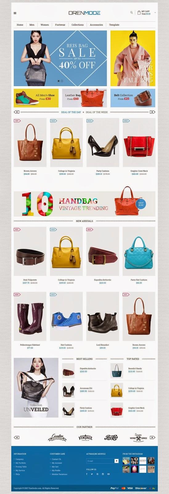 Free eCommerce Joomla Template 2015