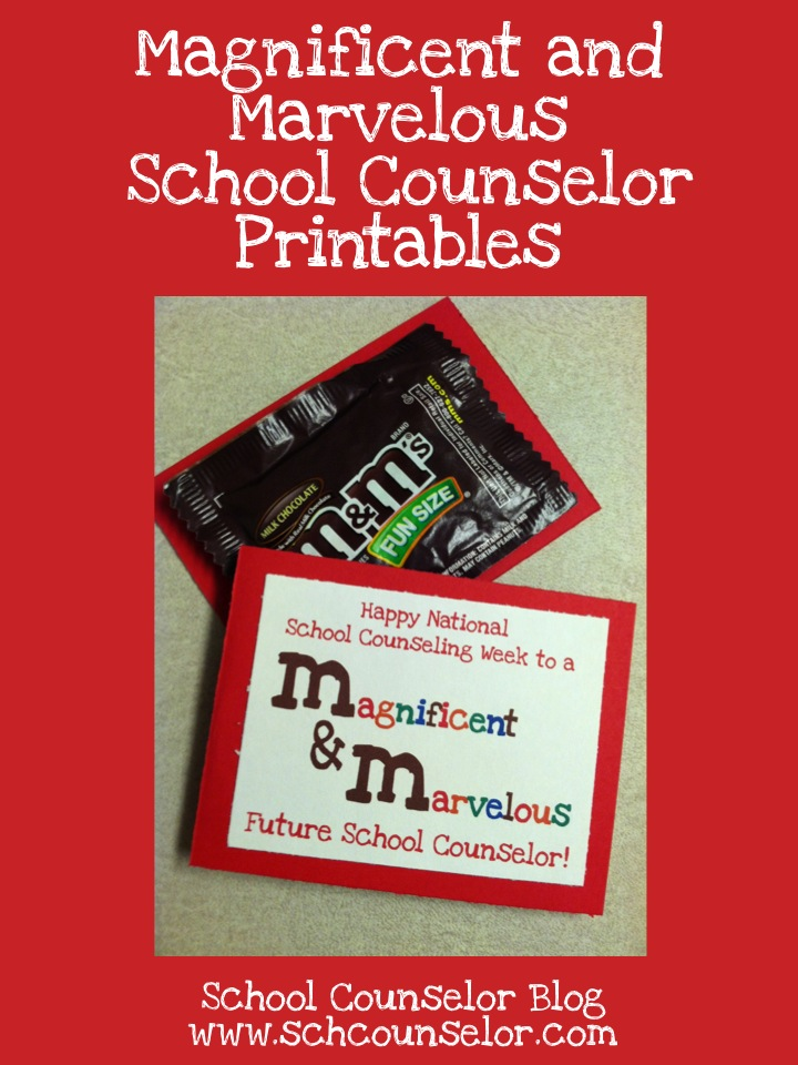School Counselor Blog: M&Ms (Magnificent and Marvelous ...