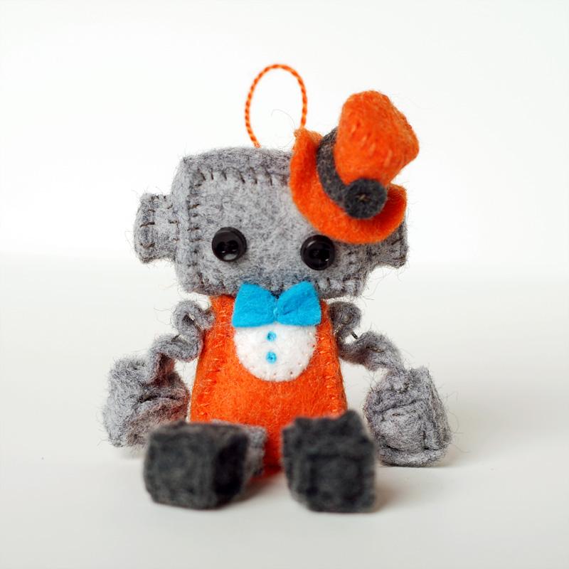 steampunk stuffed robot