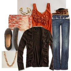 Orange and Brown Fall Outfit