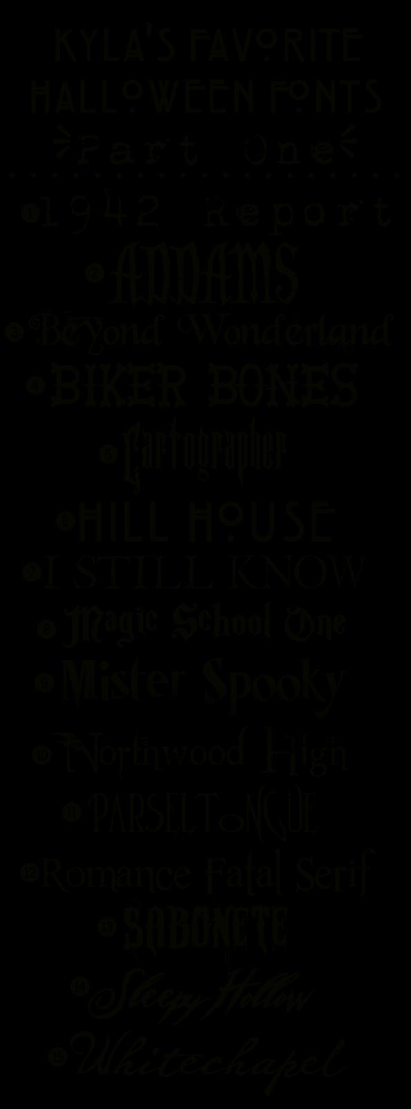 Funky Polkadot Giraffe: Kyla's Favorite Free Halloween Fonts ...