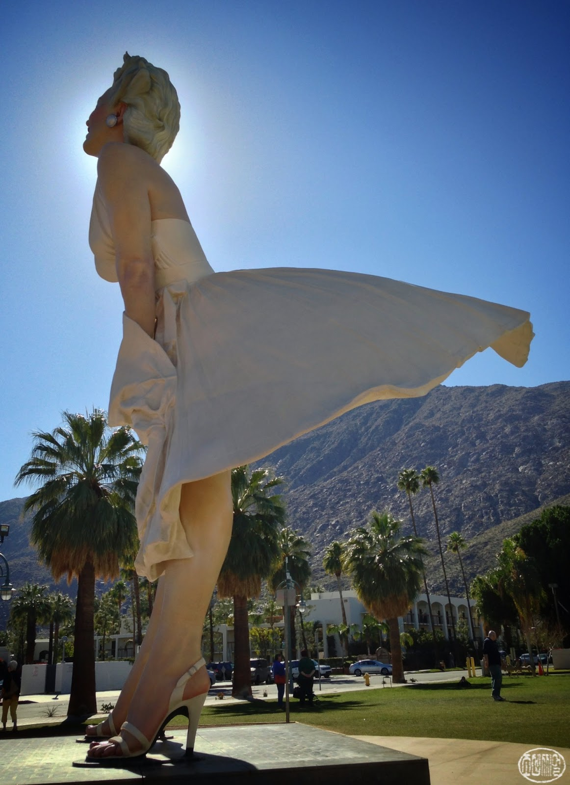 Snapseeded a few hours in palm springs mountaintop and for Marilyn monroe palm springs home