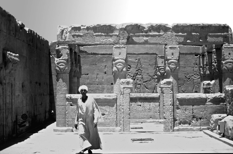 Quiosco de la terraza del templo de Dendera